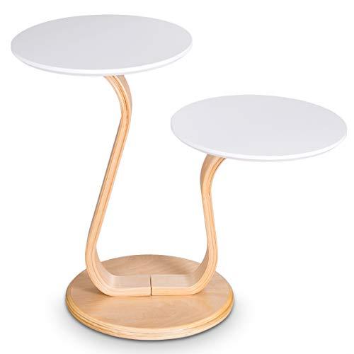 mesa decorativa de diseño a dos alturas ideal flores decorativas.