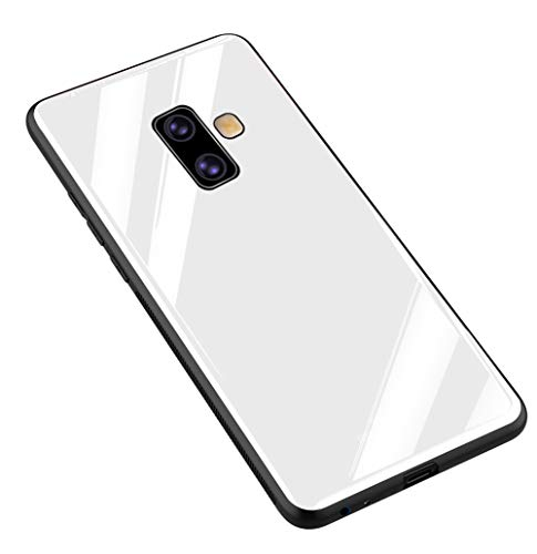 Kepuch Quartz Case Capas TPU &Voltar (Vidro Temperado) para Samsung Galaxy J6+ J6 Plus - Branco