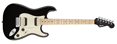 Squier by Fender Contemporary Active Stratocaster Electric Guitar - HH - Rosewood Fingerboard - Flat Black