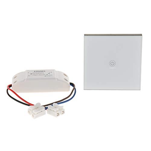 MERIGLARE Interruptor de Control Remoto Inalámbrico Universal RF, AC90~250V 1CH Canal 50m
