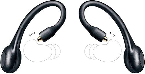 Shure RMCE-TW2 True Wireless Adapter (Gen 2) per gli auricolari isolanti Shure, vestibilità sicura sopra l'orecchio, Wireless Bluetooth 5, lunga durata della batteria con custodia di ricarica