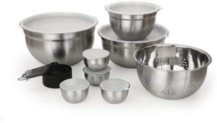 Stainless Steel Measure /& Mix Bowl Set Better Homes /& Gardens 23 Piece Prep