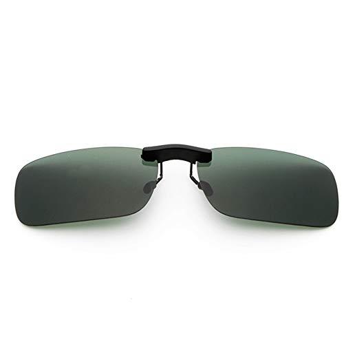 新型 メガネの上からつけられる クリップオン サングラス 偏光レンズ UV400 夜間運転 偏光スポーツサングラス 付きサングラス 跳ね上げ 偏光クリップ眼鏡 紫外線カット 前掛けクリップ式サングラス 収納ケース付き 超軽量 WangToall (グリーン