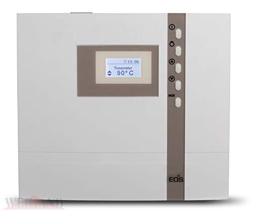 EOS Saunasteuerung ECON D1, externe Steuerung für die Sauna inkl. Temperaturfühler und Überhitzungsschutz für die rein finnische Sauna, inkl. Kindersicherung - Original EOS - Ohne Fremdmarkenlogo D1