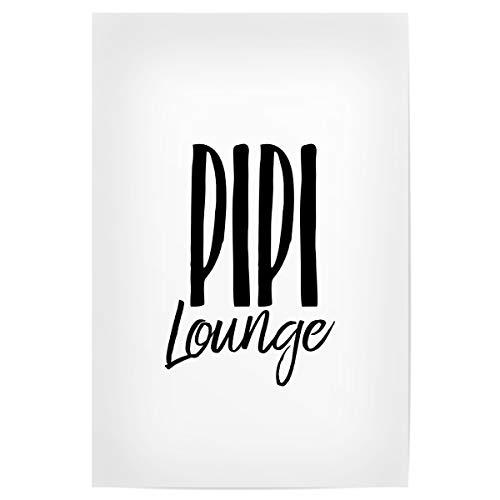 artboxONE Poster 30x20 cm Badezimmer Typografie PIPI Lounge hochwertiger Design Kunstdruck - Bild klo Toilette PIPI