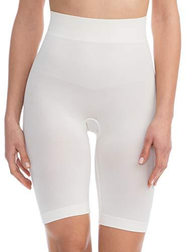 Farmacell Bodyshaper 603B (Cipria, S/M) Pantaloncino Short Contenitivo e Modellante con pancera Fibra NILIT Breeze Leggera e rinfrescante