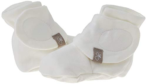 Goumikids goumiboots, Soft Stay On Booties Keeps Feet Warm and Adjusts to Fit as Baby Grows (Diamond Dots/Cream, 0-3 Months)