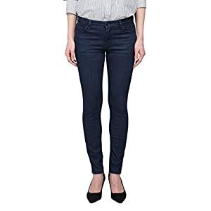 Women's Mid-Rise Skinny Jeans  Dark Blue