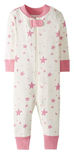 Moon and Back by Hanna Andersson One Piece Footless Pajamas infant-and-toddler-sleepers, Mittelrosa, 0-3 mos