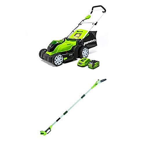 Amazon.com : Greenworks 17-Inch 40V Cordless Lawn Mower, 4.0 ...