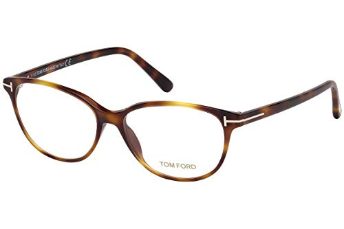 Tom Ford FT5421 Brillen 55-14-140 Blonde Havana Braun Mit Demonstrationsgläsern 053 TF5421 TF 5421 FT 5421