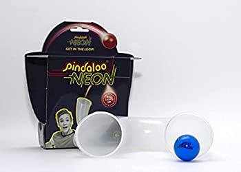 pindaloo Juggling Skill Toy with 1 Ball   an Exciting New Game for Kids Teens and Adults - Indoor and Outdoor Play   Have a Whole Lot of Fun Developing Motor Skills and Learning to Juggle  Neon
