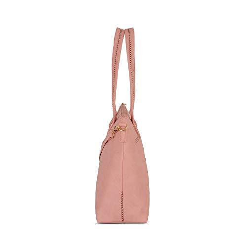 Baggit Autumn-Winter 2020 Faux Leather Women's Satchel (Pink) (Lxe Moldy)