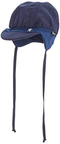 Sterntaler Ballonmütze für Jungen mit Bindebändern, Ohrenklappen und Stern-Motiv, Alter: 5-6 Monate, Größe: 43, Blau (Marine)
