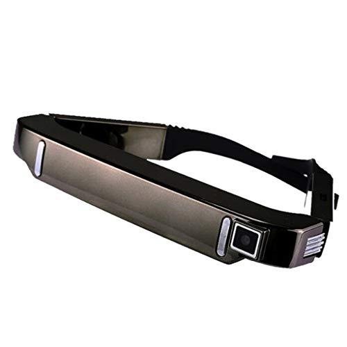 バーチャルリアリティをヘッドマウント - VRオールインワンのAndroidスマートHDワイヤレスの3Dヘッドマウントビデオグラス、サポートマイクロTFカードHD 1080P (Color : Brass)