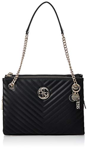 Guess Borsa shopping Blakely Girlfriend status luxe satchel ecopelle trapuntata black 3 comp. BS20GU139