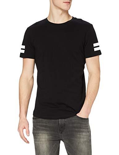 JACK & JONES JCOBORO TEE SS CREW NECK, Camiseta Hombre, Negro (Black), Medium