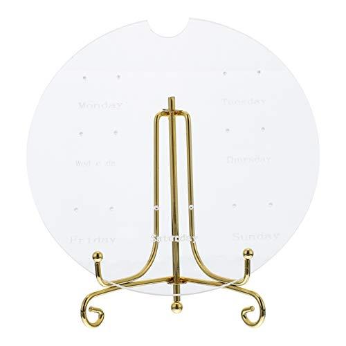 Cabilock Acrylic Earrings Organizer Jewelry Display Stand Holder Hanging Organizer Decorative Jewelry Towel or Bracelets Earrings Rings