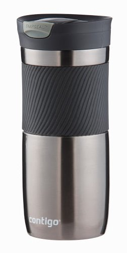 Contigo Thermobecher Byron Snapseal, Edelstahl Isolierbecher, Kaffebecher to go, auslaufsicher, spülmaschinenfester Deckel BPA-frei, 470 ml