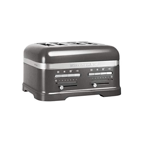 KitchenAid 5KMT4205EMS 5KMT 4205 EMS Artisan 4-Scheiben-Toaster Silver, Medallion Silber