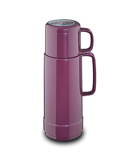 ROTPUNKT Isolierflasche 80 Andreas 0,5 l | Zweifunktions-Drehverschluss | BPA Frei- gesundes Trinken | Made in Germany | Warm + Kalthaltung | Glaseinsatz | Shiny Amethyst