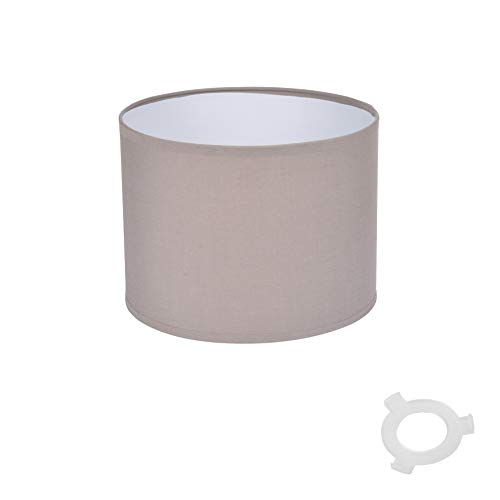 Homea 6ABJ120TA Lampenschirm, PVC, Taupe, Durchmesser 20 cm, Höhe 15 cm