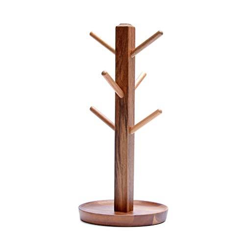 Porte-gobelet en bois Creative Drain Ménage Porte-gobelet à eau Cintre Tablette Cadre décoratif Support de rangement Deux couleurs (Couleur : B)