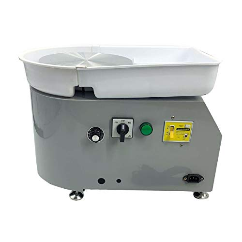 SOFEDY Pottery Wheel 25cm Pottery Forming Machine 110V 350W Electric Pottery Wheel DIY Clay Tool Artist Studio Easy Spin Pottery Wheel Machine for Ceramic Work Clay Art DIY Clay (Gray)