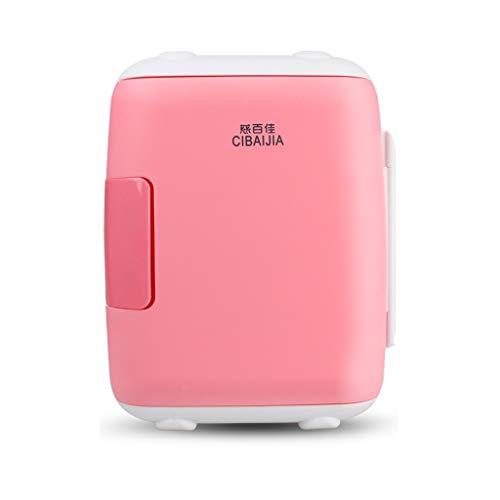 HSJ WYQ- Mini refrigerador pequeño refrigerador de Uso doméstico, refrigerador de Doble Uso, automóvil, Uso, refrigerador pequeño, 27 * 27 * 21 cm refrigeración (Color : Pink, Size : 12L)