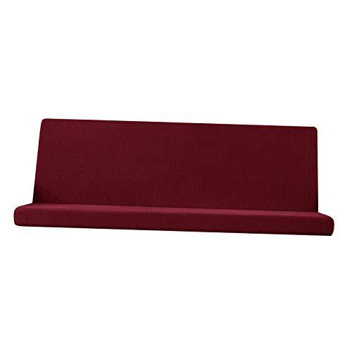 Baoblaze Cubierta de futón sin Brazo tamaño Completo elástico sofá Cama Cubre Lavable Slipcover Protector de Muebles - Rojo