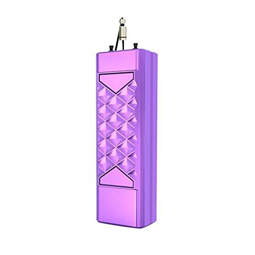 N/A/a Collar de purificador de Aire portátil ambientador, eliminador de bacterias de Humo ionizador Limpiador de Aire USB generador de Iones Negativos - Púrpura