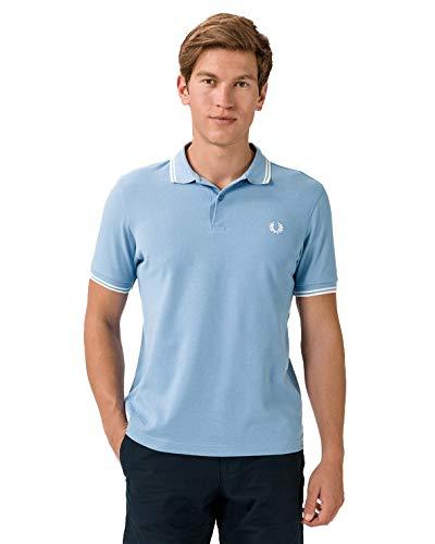 Fred Perry M3600 Camisa de polo, Azul Claro Y Blanco, M para Hombre