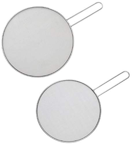 HIC Harold Import Co. Set of 2 Splatter Screens Guards Strainers Set for Frying Pans, 11.5' and 13'