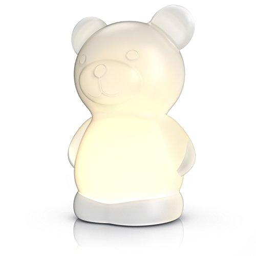 CSL - LED Nachtlicht Nachlampe Teddybär Stimmungslicht für Babys Kinder Schlaflicht BPA frei - LED-Nachtlicht - LED-Farbwechsel weiß rot grün blau