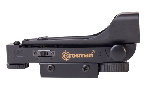 Crosman 0290RD Wide View Red Dot Sight For Airguns With 3/8Inch Dovetail Mount
