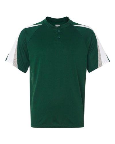Augusta Sportswear Men'S Power Plus Baseball Jersey Xl Dark Green/White/Silve...