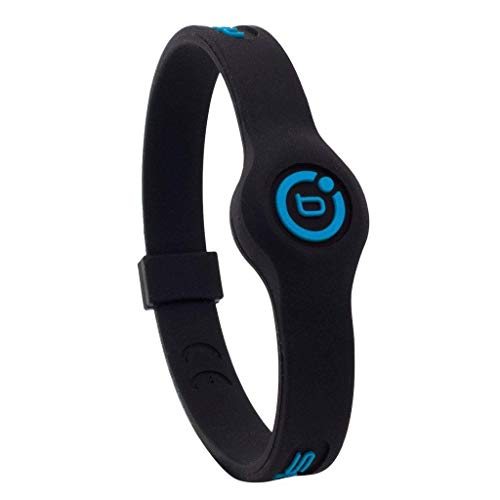 2016 Bioflow Sport Slim Magnetic Therapy Silicone Wristband BBlack/Neon Blue Small