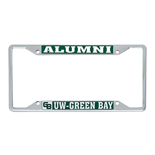 Desert Cactus University of Wisconsin - Green Bay Metal License Plate Frame for Front Back of Car Officially Licensed (Alumni)