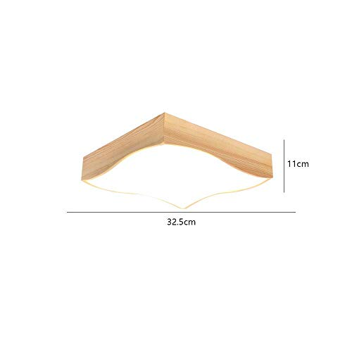 AG Home Schlafzimmer Deckenleuchte, Nordic Massivholz Led Deckenleuchte Japanischen Stil Einfache Wohnzimmer Lampe Studie Lampe IKEA Kreative Schlafzimmer Lampe Holz Lampe (32,5 * 11 cm 18 Watt)