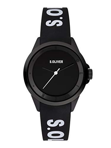 s.Oliver Damen Analog Quarz Uhr mit Silikon Armband SO-3846-PQ