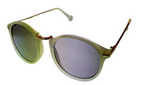 Converse H076 - Gafas de sol redondas de plástico para hombre, color verde y plateado
