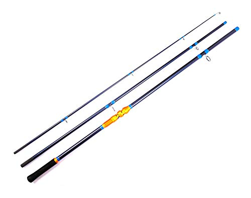 Entsport E Series - Silver Rhino Surf Spinning Rod on Beach 11-Feet 3 Pieces Portable Graphite Surf Fishing Rods