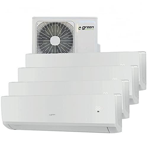 Climatizzatore inverter quadri split GREEN ELECTRIC 12+12+12+12 btu R32 A++ A+ WIFI integrato