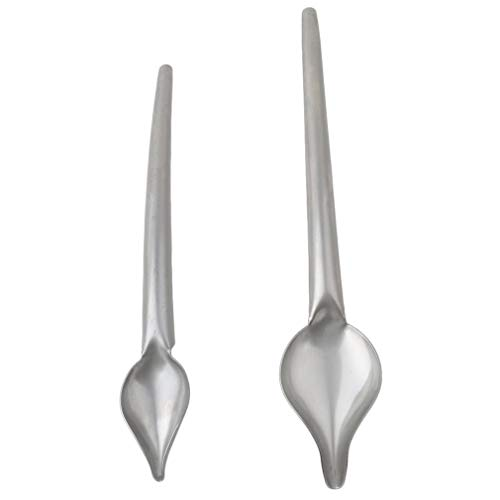 Ogquaton - Cucharas de acero inoxidable con forma de lápiz, para decoración de pasteles, para hornear, pasteles, dulces, creativas y útiles