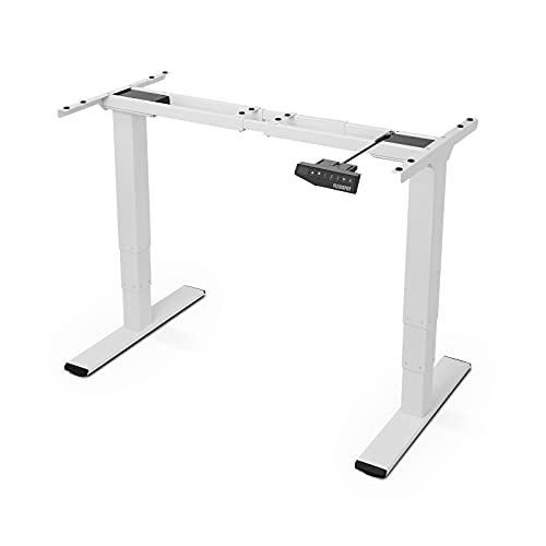 FlexiSpot 電動式スタンディングデスク 高さ調節デスク ワークテーブル 書斎デスク ホワイトE3W