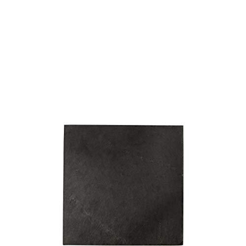 BUTLERS Plateau Schieferplatte 20 x 20 cm - Schwarzer Schiefer Untersetzer - Moderne Tischdeko, Ablage und Geschenkidee
