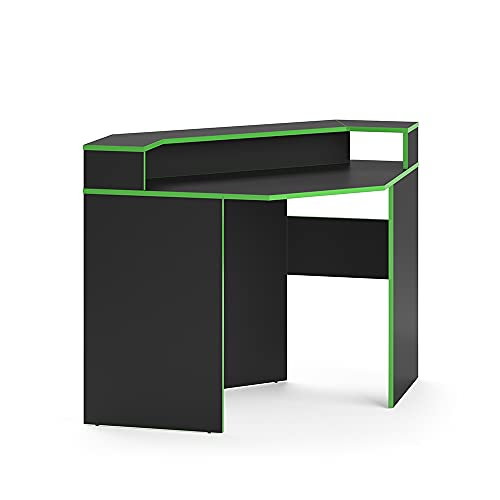 Vicco Gaming Desk Schreibtisch Kron Gamer PC Tisch Computertisch Bürotisch Set (Computertisch Set 3) (Computertisch Ecke)