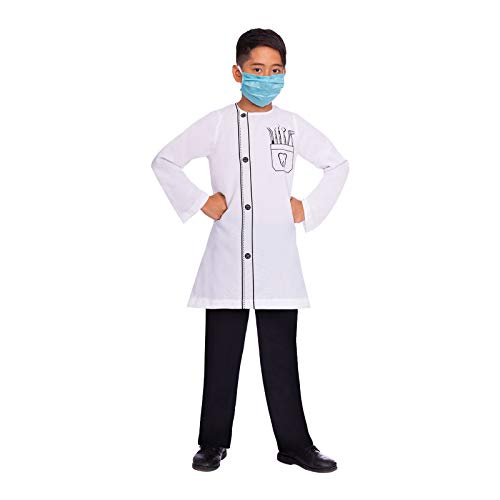amscan- Dentist Juego de Disfraces, Color Blanco, nio 4-6 aos (9904659)