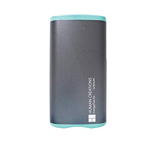 Human Creations EnergyFlux G3 Rechargeable Hand Warmer Enduro's Successor - Electric Hand Warmer with Powerbank - Wrap-Around Hot Pocket Warmer - Warm Hands for Men and Women - Turquoise, 5200mAh