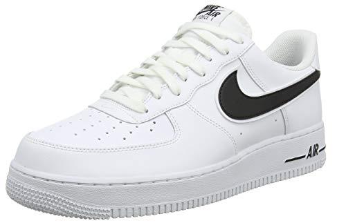 Nike Air Force 1 '07 3, Scarpe da Basket Uomo, Bianco (White/Black 101)), 40.5 EU